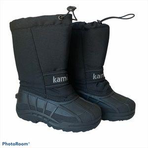 Kamik 1 snow ridge lined snow boots warm rip cord